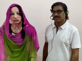 This social humanoid robot can speak in nine Indian languages.
