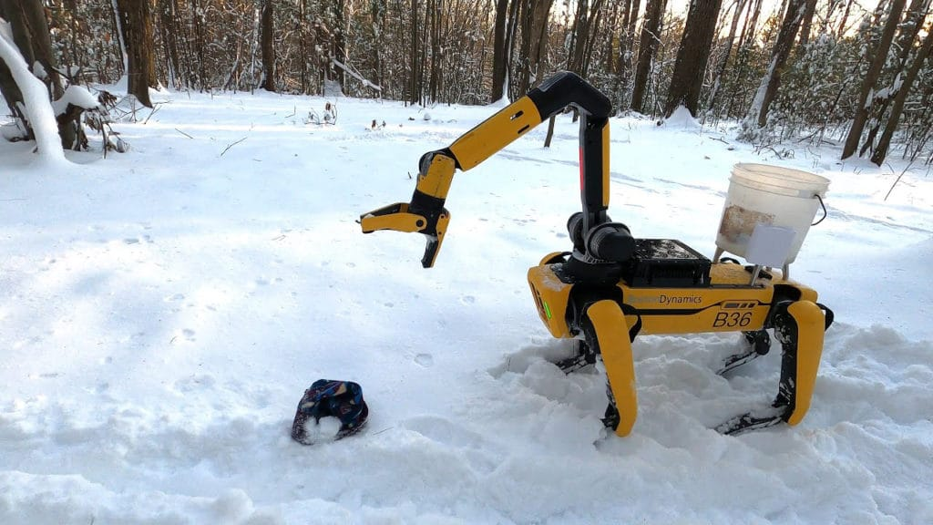 Boston Dynamics' Spot can play jump rope, do mobile manipulation.