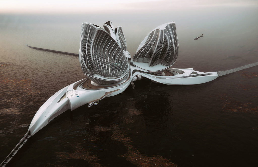 Lenka Petráková proposed floating station concept to clean up oceans.