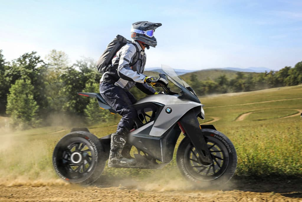 New BMW D-05T e-motorcycle concept brings the fun of riding.