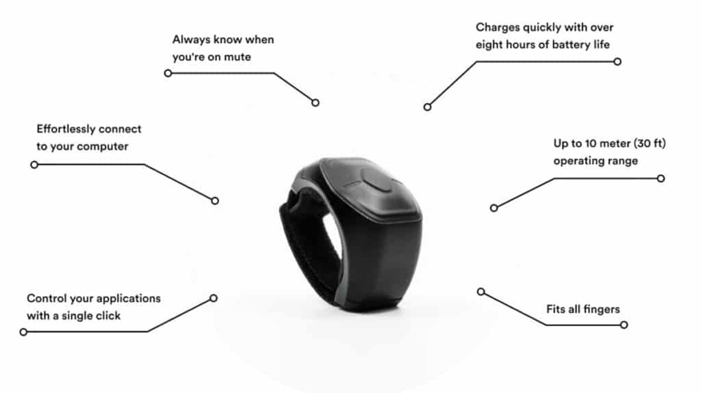 Genki Wave for Work smart ring can control Zoom calls.