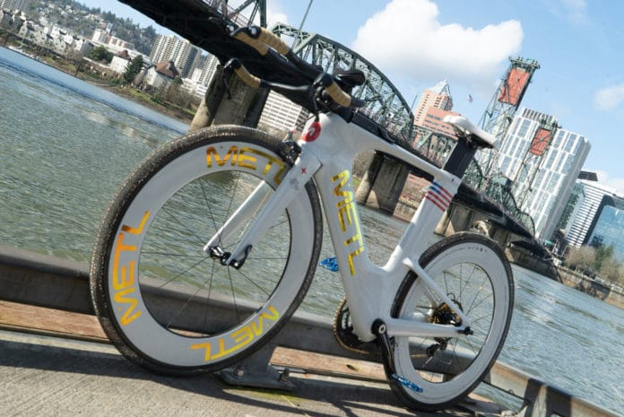 NASA startup unveils METL bike tires that are superelastic, airless, never go flat.
