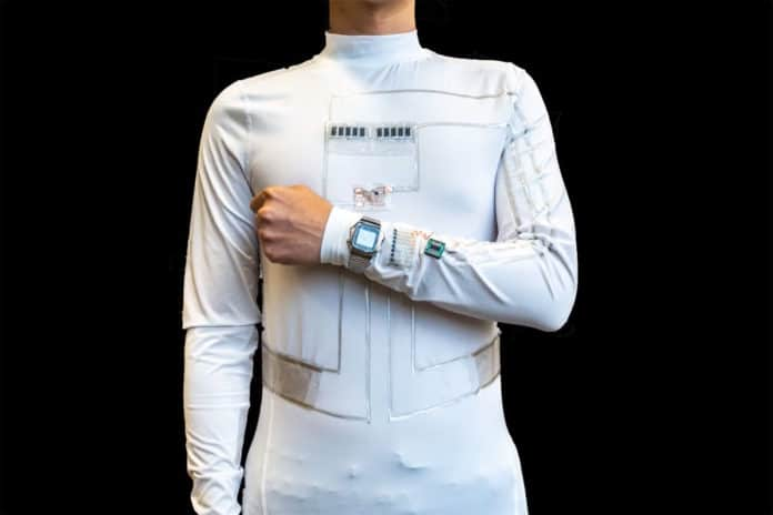 Wearable microgrid generates electricity from body movement and sweat