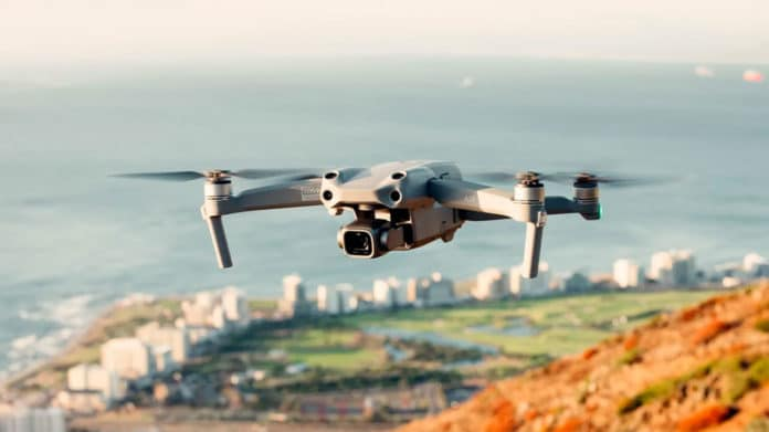 DJI Air 2S folding quadcopter with new 1-inch sensor shoots 5.4K video.