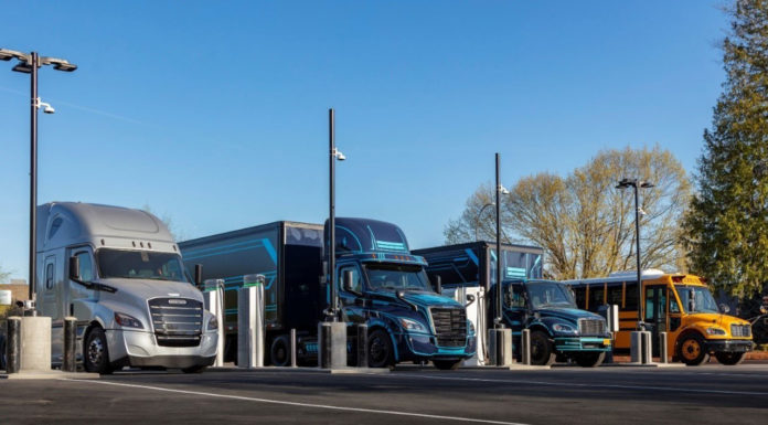 Daimler open first-of-its-kind heavy-duty electric truck charging site