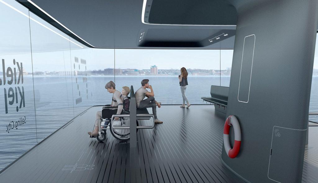 CAPTN Vaiaro is an autonomous electric ferry concept for ecological public transport