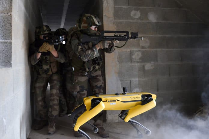 The French army tests Boston Dynamics' Spot robots in combat scenarios.