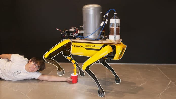 Boston Dynamics' Spot robot dog has been taught to pee beer