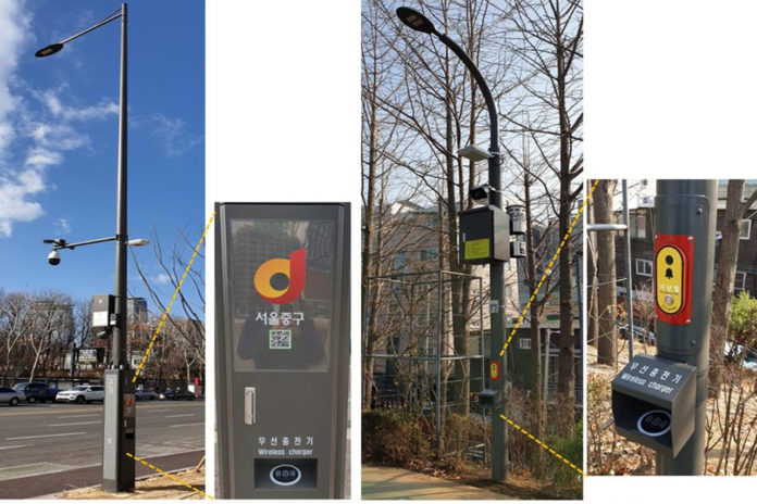 Seoul's multifunctional smart poles will charge drones and electric vehicles