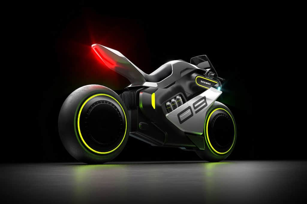 Segway Apex H2, the first electric hydrogen hybrid motorcycle.
