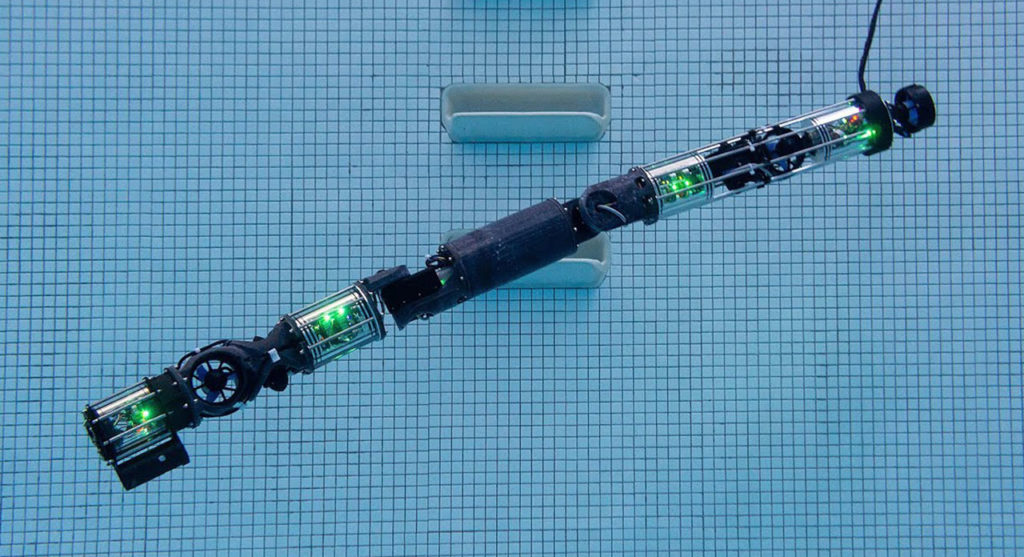 CMU's submersible snake-like robot can inspect ships, infrastructure.