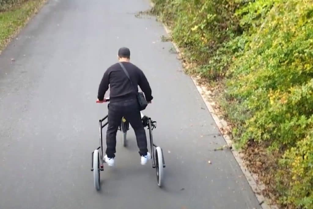 Uready E-Trike, a standup tricycle that feels like riding a Jet Ski.
