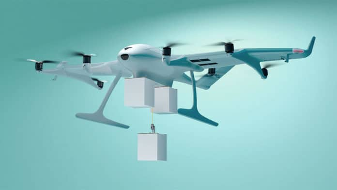 Wingcopter 198 drone can deliver three packages to multiple locations at once.