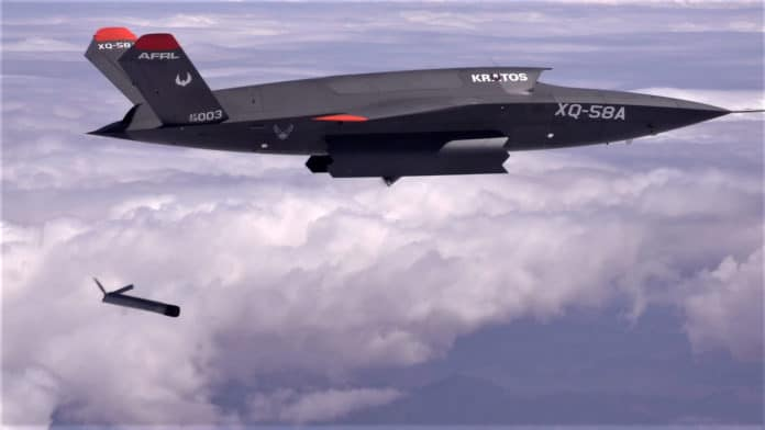Unmanned XQ-58A Valkyrie launches small drone in its sixth flight test