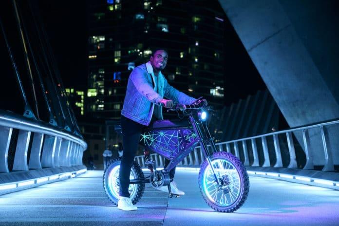Xion CyberX, a 50 mph, 100-mile range custom e-bike with off-road skills.