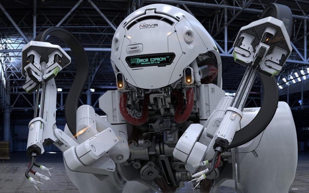 SN-3 Nova robot dog concept designed for dangerous maintenance tasks.