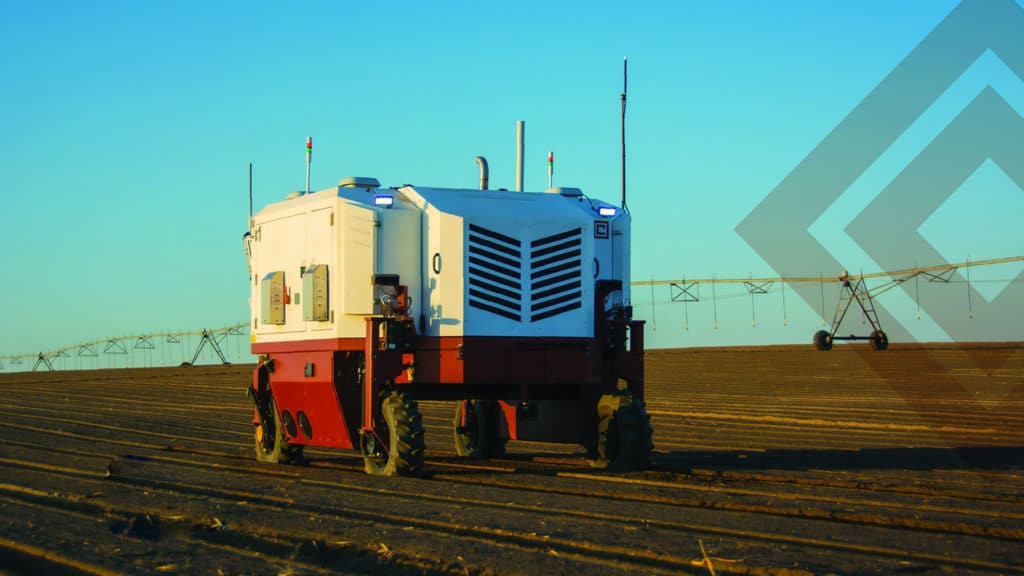 Autonomous Weeder high-power lasers to eliminate 100,000 weeds per hour.