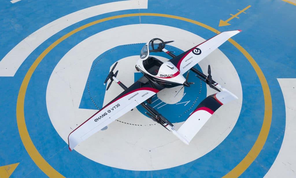 EHang unveils long-range VT-30 AAV designed for inter-city travel.