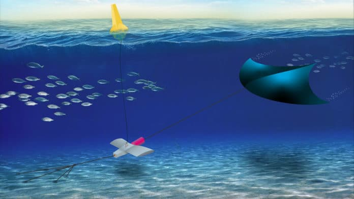 SRI's Manta underwater kite system generates electricity from tides