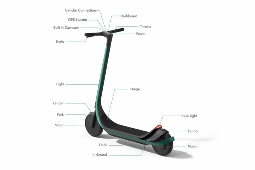 Scotsman e-scooter is custom 3D-printed for your size and ride style.