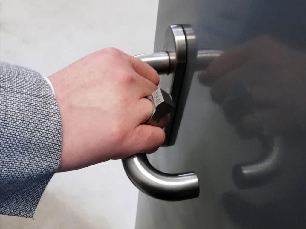 Smart finger ring with RFID chip could replace key, wallet, cards