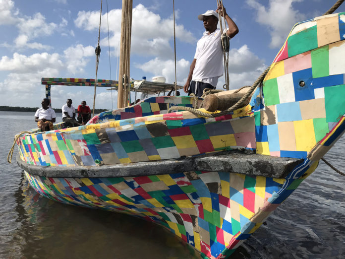 Flipflopi, a boat made entirely from recycled flip-flops and ocean plastic.