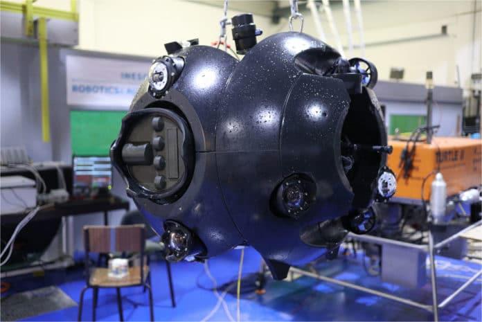 UX-1Neo underwater robot to explore flooded underground mines.