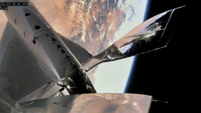 Virgin Galactic's VSS Unity spacecraft completes first human spaceflight.