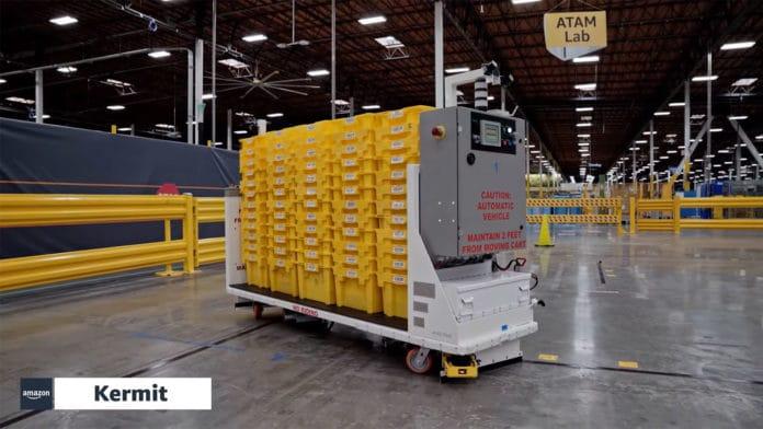 Amazon's new warehouse robots help make employees' jobs safer