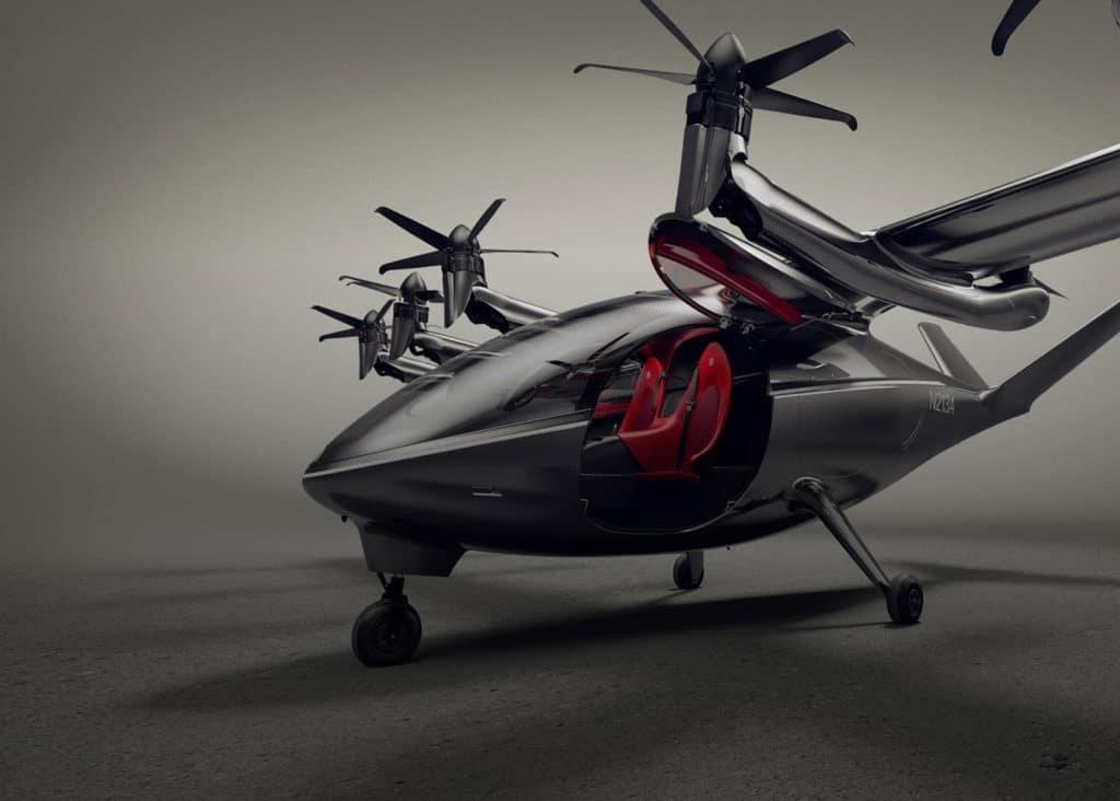 Archer unveils its first 2-Seater autonomous Maker urban air taxi.