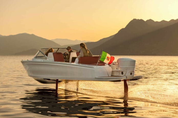 Candela C-7, the world's first electric hydrofoil boat.