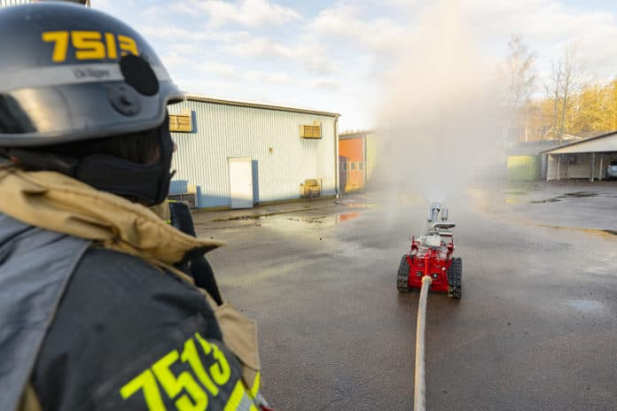 New fire-fighting robot aims for better working environment, safer efforts.