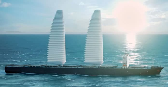Michelin's inflatable sails help cut cargo ship fuel usage and emissions.