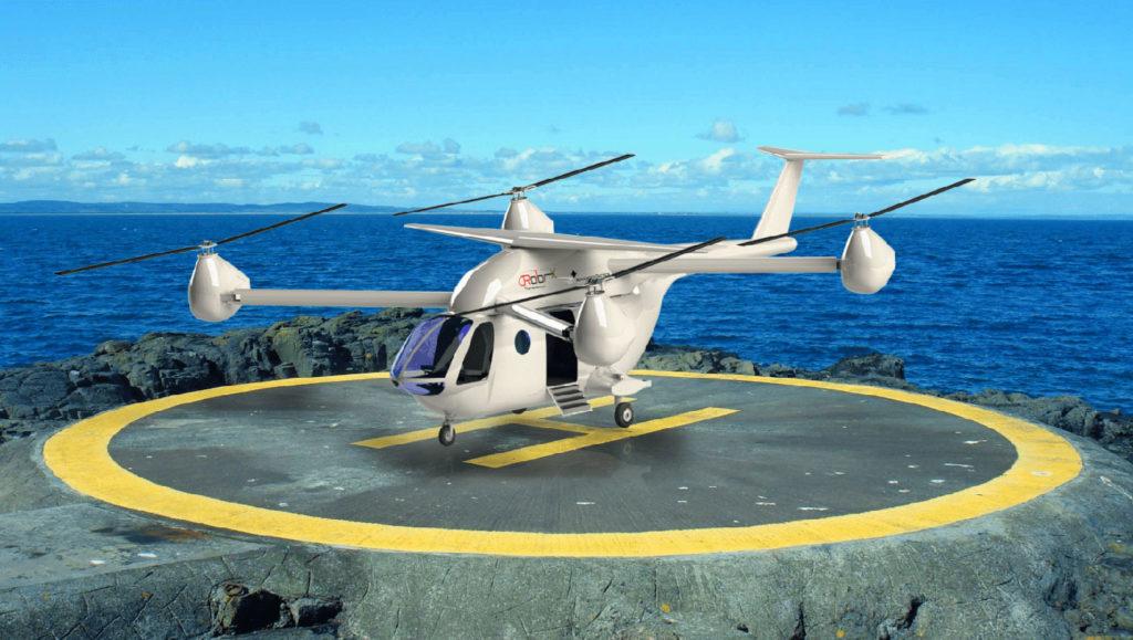 RX eTransporter, the world's most efficient quad-rotor eVTOL Air Taxi