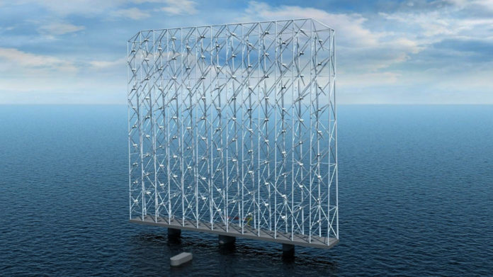 Single floating offshore Windcatcher unit could power 80,000 European homes.
