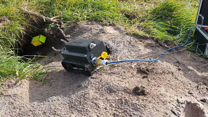 WomBot, a remote-controlled robot for monitoring wombat burrows