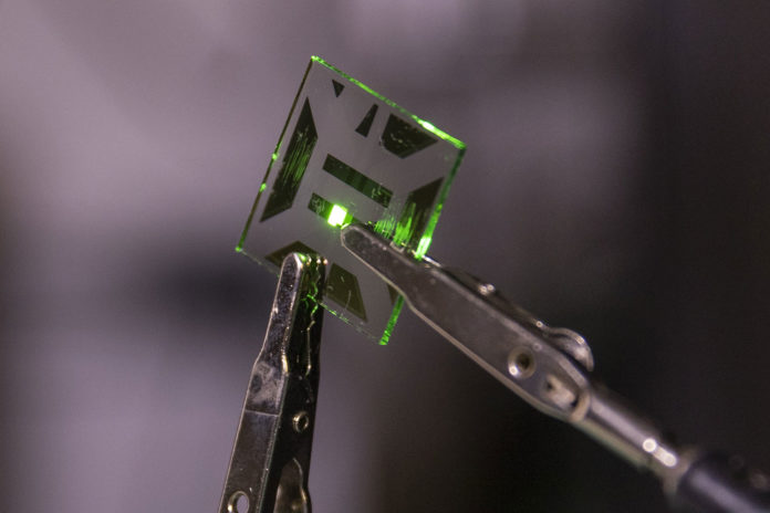 Nanotech OLED electrode improves battery life by liberating 20% more light.