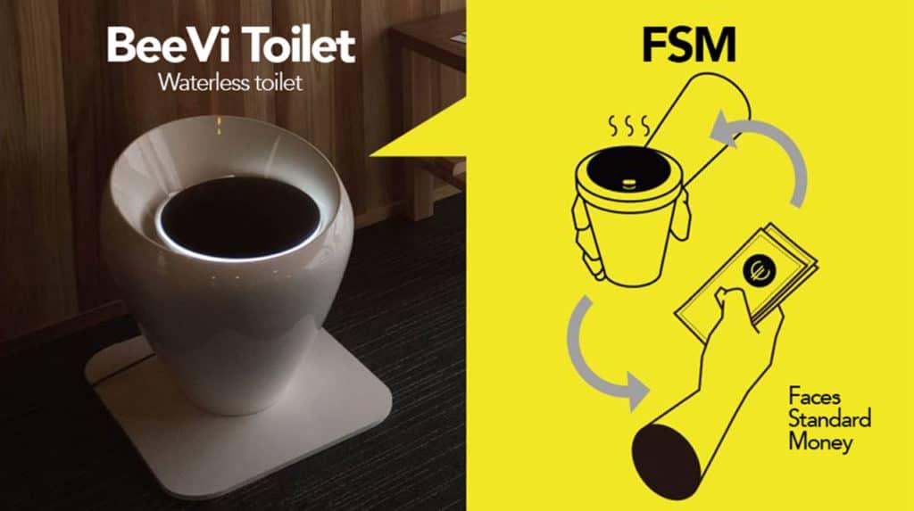 South Korean eco-friendly toilet turns poop into green energy.
