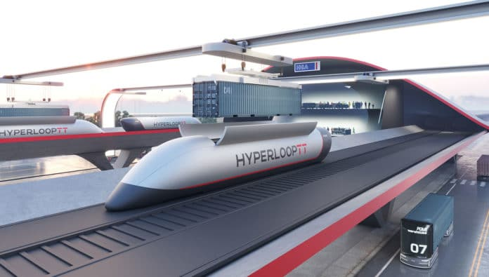 New HyperPort offers port cargo transport at transonic speeds