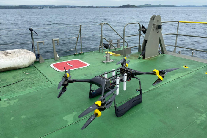 Royal Navy tests drones to help rescue sailors who fall overboard