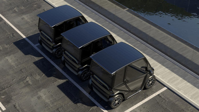 SQUAD, a self-charging Solar City Car for daily urban mobility.