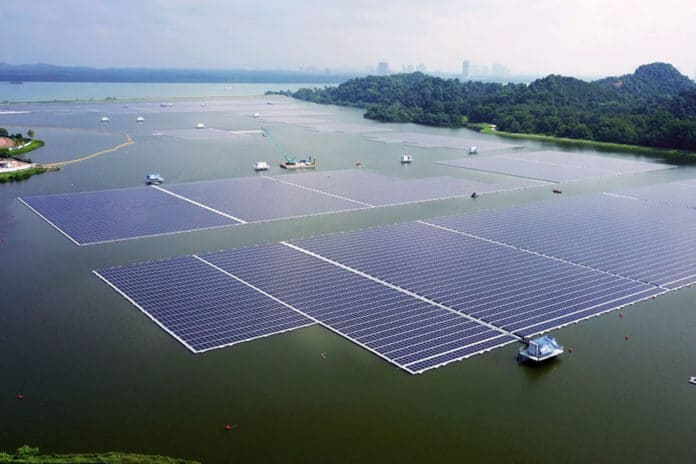Sembcorp and PUB open 122,000-panel floating solar farm in Singapore.