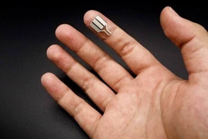 New wearable device uses human sweat to power electronics.