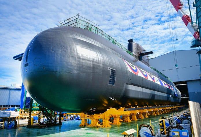 South Korea launches new 3,000-ton ballistic missile submarine, the Shin Chae-ho.
