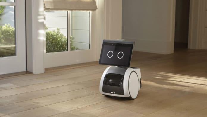 Amazon Astro, a voice-controlled wheeled home robot.