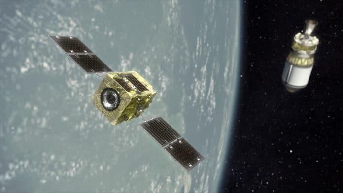 An artist's render of Astroscale's ADRAS-J satellite.