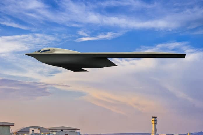 Shown here is an artist rendering of the B-21.