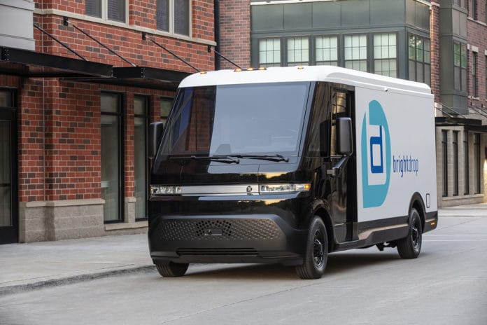 The BrightDrop EV600 is an all-electric light commercial vehicle, purpose-built for the delivery of goods and services over long ranges.