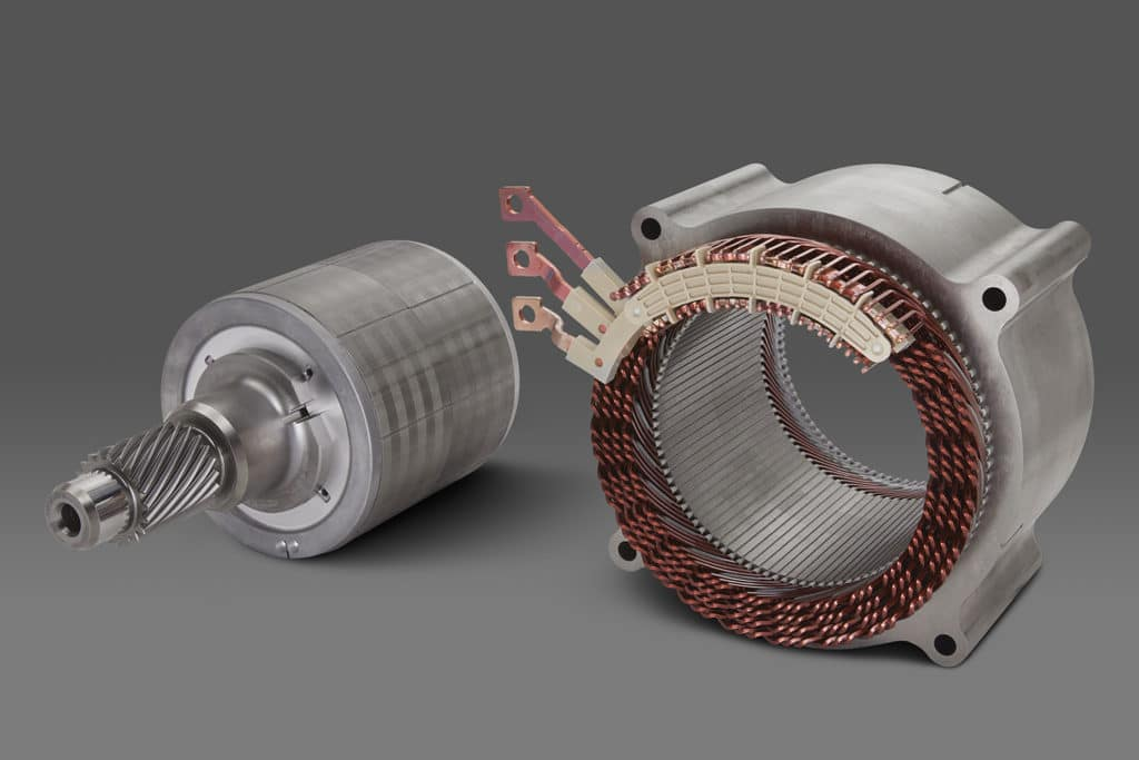 GM's 255-kW, permanent magnet EV motor will be used for performance all-wheel drive and rear-wheel drive applications.