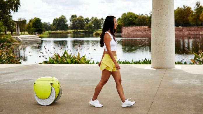 Piaggio Gitamini, a cargo-carrying robot that follows its owner everywhere.